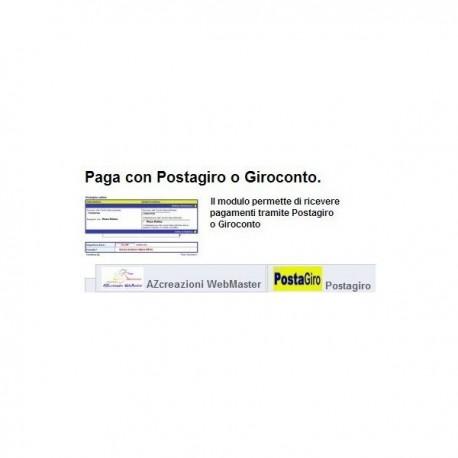 MODULO POSTAGIRO-GIROCONTO PRESTASHOP 1.6.0.X