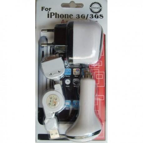 KIT RICARICA AUTO/CASA IPHONE 3G & IPOD